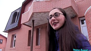 Brunette Teen With Glasses Fucks For Money In Front Of The Camera
