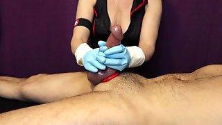 Femdom Nurse Gloved Cum Milking Handjob Prostate Massage Latex N Household