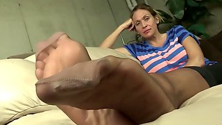 La Creme Wants You To Jerk Off To Her Smelly Stocking Feet. Sniff Hard.