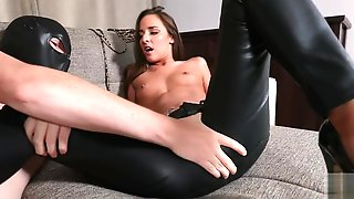 Masked Man Fucks Leather Trousers