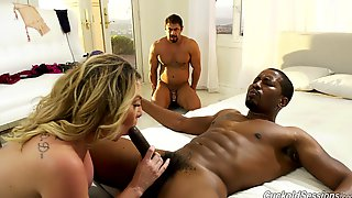 Tied Up Husband Watches As Whore Wife Kiki Daire Fucks With A BBC