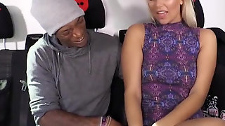 Interracial Sex In The Bus Performed By German Cutie Nikki Dream And Ebony Student Dylan Brown