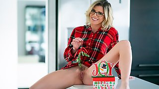 Nerdy Fake-boobed Mother Cory Chase Penetrated In The Doggy Style