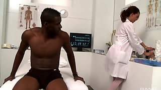 Black Dude Gets His Dick Sucked And Ridden By Nurse Layla Rivera