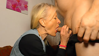German Granny Margit S. Has An Affair With Her Old Neighbor