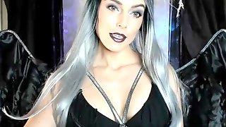 The Dark Angel Teases - Fetish Goth Girl
