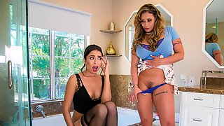 Two Beauties Eva Notty And Melissa Moore Love His Big Dick