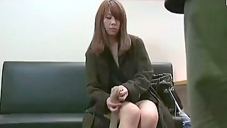 Asian Japanese Milf Took Off Her Panties In Front Of Strangers Outside Cinema