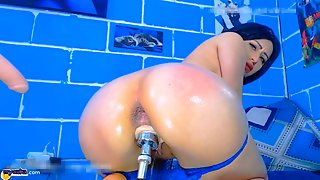 Big Perfect Fucking Ass Butt Teen Fucks Her Pussy Hardcore And Squirts Amazing.
