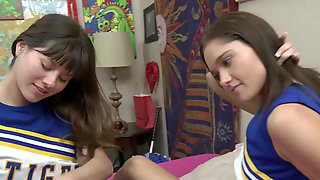 Cheerleaders Shyla Jennings And Zoe Bloom Explore Lesbian Love