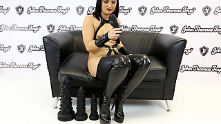 Roxee Couture Fucks A HUGE Silicone Dildo From John Thomas Toys