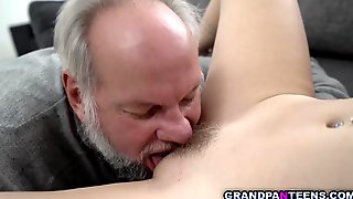 Teen Pussy Juice Makes Grandpa Young Again