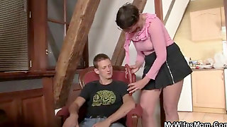 Dick Hungry Grannie Seduces Her Sonnie In Law