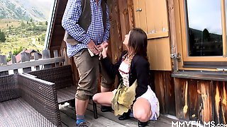 German Babe Lullu Gun - The Bavarian Teen Fucked On Farm By Old Man
