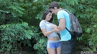 Outdoor Sex While Camping With Seductive Brunette Girl Alexa Tomas