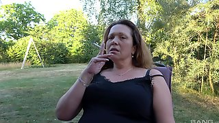 Solo Granny Strips And Teases With Her Big Saggy Boobs And Pussy
