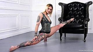 Tattooed Babe Bassza Meg Shows Yummy Pussy In Different Positions