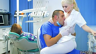Naughty Blonde Nurse Gets Fucked In The Office By The Doctor