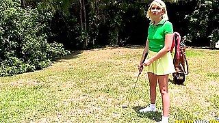 Short-haired Blonde Zelda Morrison Likes His Long And Hard Boner