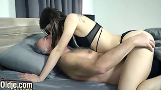 Grandpa Fucks Teenager Pushes His Chisel Inside Her Hard And Deep