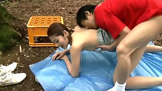 Asian Amateur Couple Outdoor Sex Fun