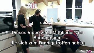 Two German Teens Seduce The Homeworker To FFM Threesome