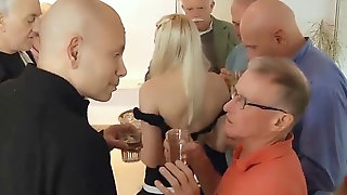 Seven Old Men Gang-fuck Teenage Sweetheart Pussy Anal Fucking Facials