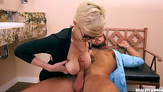 Blonde Skye Blue Teases During The Dinner And Gets Fucked At Home