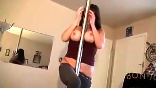 Smoking Pole Dancer