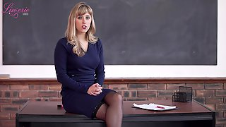 Big Tittied Teacher Louise Gets Naked And Tells Erotic Stories