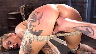 Sexy Kleio Valentien Enjoys Hardcore Sex Games While She Hangs Tied