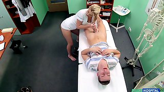 Blonde Nurse Bianca Fererro Spreads Her Legs And Rides Her Patient