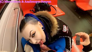 Helsinki Metro Public POV Blowjob By Finnish Gothic Teen