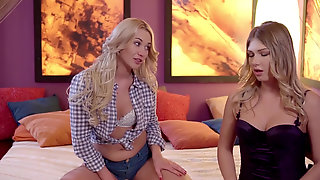 Lindsey Olsen And Lucy Heart Teasing Each Others Pussies
