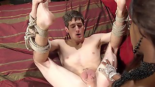 Obedient Lad Leaves His Ebony Mistress To Devour His Ass