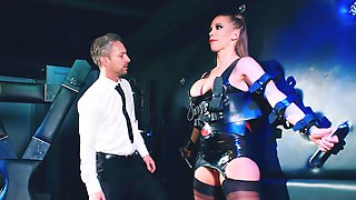 Rebecca More In Leather Outfit Loves To Have Kinky Sex With Her Lover