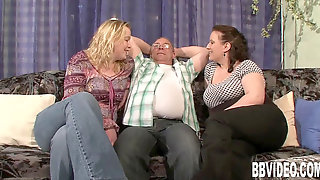 Two Huge-boobed Slags Share A Rock-hard Prick