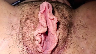 Beaded Dildo Makes Big Clit Pussy Squirt