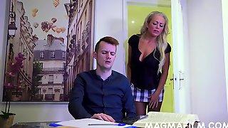 A Very Naughty MILF Tutor Rebecca Smyth Fucks Her Horny Student