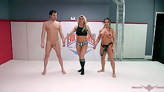 Strong Woman Brandi Mae Fucks Her Opponent With Her Massive Dildo