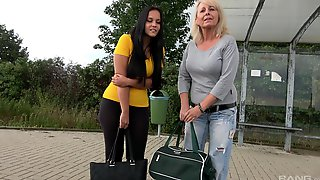 Blonde And A Brunette Picked Up For Sex. Martina & Denisa Sarkozyova