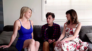 Vera King And Her Friend Kit Mercer Using Her Stepson For A Taboo Threesome