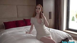 Redhead Cutie With Awesome Tits Lenina Crowne Gives A Stunning Blowjob In The Hotel