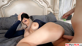 Stepson Takes Advantage On His Blindfolded Stepmother