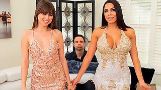 Two Elegant Brunettes Riley Reid And Luna Star Bang With A Mutual Boyfriend