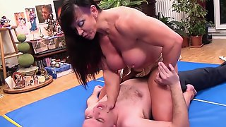 Muscle MILF Catches The Burglar