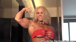 Blond Hair Lady Fitness MILF - Muscle Lady Solo