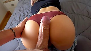 Girl With Glasses Pushed Her Panties Home Anal Sex With A Friend