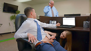Kyler Quinn Gives Nice Blowjob In The Office