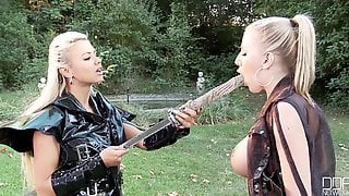 Ashley Bulgari And Danielle Maye - Samurai Femdom Cosplay